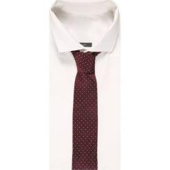 Krawaty męskie: OLYMP Level Five MINI DOT SLIM Krawat bordeaux