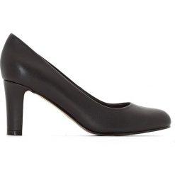 Buty ślubne damskie: Czółenka skórzane na obcasie