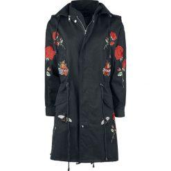 Rockabella Rose Tour Jacket Płaszcz damski czarny. Czarne płaszcze damskie marki Rockabella, na lato, s, z aplikacjami. Za 324,90 zł.