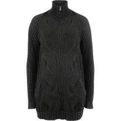 Sweter rozpinany w warkocze, z zamkiem bonprix czarny. Białe kardigany damskie marki Reserved, l. Za 54,99 zł.