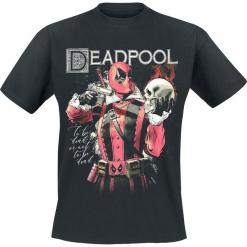 Deadpool To Be Dead T-Shirt czarny. Czarne t-shirty męskie z nadrukiem Deadpool, xl, z okrągłym kołnierzem. Za 74,90 zł.