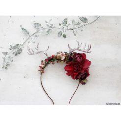 Ozdoby do włosów: Kwiatowa opaska z rogami - jelonek 0062