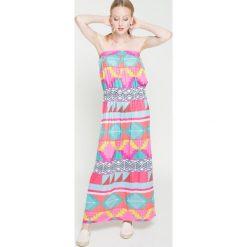 Femi Pleasure - Sukienka Osti. Szare długie sukienki marki Femi Stories, na co dzień, m, w paski, z elastanu, casualowe, proste. W wyprzedaży za 129,90 zł.