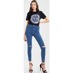 Rurki damskie: Missguided VICE HIGH WAISTED KNEE SLASH STONEWASH Jeans Skinny Fit stone