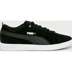 Puma - Buty Smash Wns V2 Sd. Czarne buty sportowe damskie Puma, z materiału. W wyprzedaży za 219,90 zł.