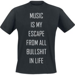 Music Is My Escape From All Bullshit In Life T-Shirt czarny. Czarne t-shirty męskie z nadrukiem marki Caliban, s. Za 54,90 zł.