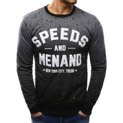 Bluzy męskie: Bluza męska z nadrukiem antracytowa (bx3406)