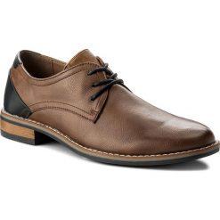Półbuty LANETTI - MYL8089-1 Brązowy. Czarne buty wizytowe męskie marki Kazar. Za 119,99 zł.