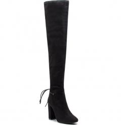 Muszkieterki KAZAR - Evelyn 35894-TS-00 Black. Czarne buty zimowe damskie Kazar, z materiału, przed kolano, na wysokim obcasie. Za 749,00 zł.