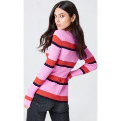 MbyM Sweter Mindy - Pink,Multicolor. Różowe swetry klasyczne damskie mbyM, z dzianiny. W wyprzedaży za 99,29 zł.