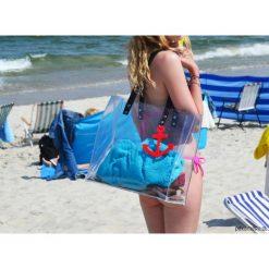 Przezroczysta torba plażowa. Czarne torby plażowe marki Pakamera, ze skóry. Za 150,00 zł.