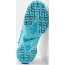 Nike Performance AIR ZOOM CAGE 3 CLY Obuwie do tenisa Outdoor light blue fury/metallic silver. Niebieskie buty sportowe damskie marki Nike Performance, z materiału, na golfa. Za 549,00 zł.