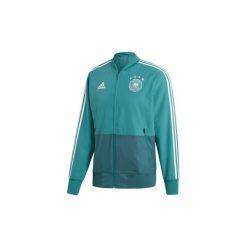 Bluzy dresowe adidas  Kurtka wyjściowa reprezentacji Niemiec. Niebieskie kurtki męskie Adidas, l, z dresówki, wizytowe. Za 329,00 zł.