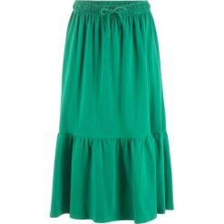 Odzież damska: Spódnica z falban, do łydki bonprix zielony miętowy