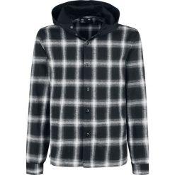 Forplay Hooded Checked Flanel Shirt Koszula czarny/biały. Czerwone koszule męskie marki Cropp, l, z kapturem. Za 79,90 zł.