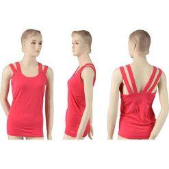 Reebok Koszulka Yoga SmFit różowa r. XL (K11847). Szare topy sportowe damskie marki Reebok, l, z dzianiny, casualowe, z okrągłym kołnierzem. Za 32,64 zł.