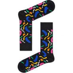 Happy Socks - Skarpety Brush. Czarne skarpetki męskie Happy Socks, z bawełny. W wyprzedaży za 29,90 zł.