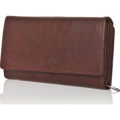 Skórzany portfel w kolorze ciemnobrązowym - 10 x 18 x 3 cm. Brązowe portfele damskie I MEDICI FIRENZE, ze skóry. W wyprzedaży za 211,95 zł.