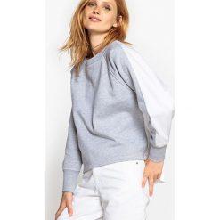 Bluza z dwóch materiałów, tył z popeliny. Szare bluzy damskie marki La Redoute Collections, m, z bawełny, z kapturem. Za 167,96 zł.