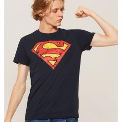 T-shirt z nadrukiem Superman - Granatowy. Czarne t-shirty męskie z nadrukiem marki House, l. Za 39,99 zł.