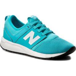 Sneakersy NEW BALANCE - KL247CPG Niebieski. Niebieskie trampki chłopięce New Balance, z materiału, na sznurówki. W wyprzedaży za 179,00 zł.