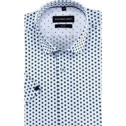 Koszula SIMONE slim KKWS000027. Szare koszule męskie slim marki S.Oliver, l, z bawełny, z włoskim kołnierzykiem, z długim rękawem. Za 199,00 zł.