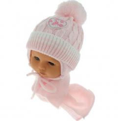 Czapka niemowlęca z szalikiem CZ+S 149D. Szare czapeczki niemowlęce Proman. Za 39,76 zł.