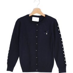 Swetry dziewczęce: Granatowy Sweter Turning Back