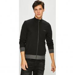 Emporio Armani - Bluza. Czarne bluzy męskie rozpinane Emporio Armani, l, z bawełny, bez kaptura. Za 489,90 zł.