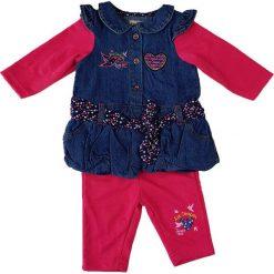Spodnie niemowlęce: 2-częściowy zestaw w kolorze różowym