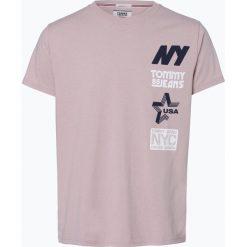 Tommy Jeans - T-shirt męski, różowy. Czerwone t-shirty męskie z nadrukiem Tommy Jeans, m, z bawełny. Za 119,95 zł.