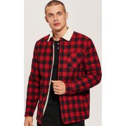 Ocieplana koszula - Czerwony. Szare koszule męskie marki House, l, z bawełny. Za 159,99 zł.