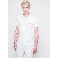 Emporio Armani - T-shirt piżamowy. Szare piżamy męskie Emporio Armani, l, z bawełny. W wyprzedaży za 99,90 zł.