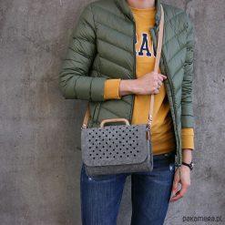 Mała szara filcowa torebka FeltAndWood I. Szare torebki klasyczne damskie marki Pakamera, małe. Za 125,00 zł.