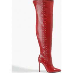 Kozaki czerwone Elena. Czerwone buty zimowe damskie Badura. Za 471,99 zł.