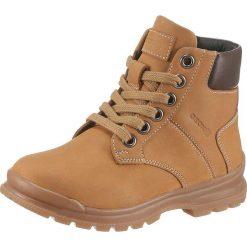 GEOX Kids Kozaki 'Navado Boy'  brązowy. Brązowe buty zimowe chłopięce geox kids, z materiału, na rzepy. Za 273,00 zł.