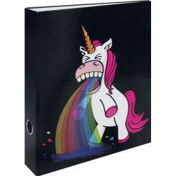 Jednorożec Puking Unicorn - Rainbow Teczka standard. Czarne aktówki męskie marki Reserved. Za 21,90 zł.