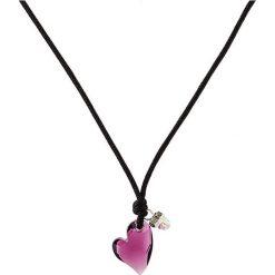 Naszyjniki damskie: Skórzany naszyjnik w kolorze czarnym z zawieszką – dł. 45 cm