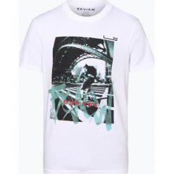 Review - T-shirt męski, czarny. Niebieskie t-shirty męskie z nadrukiem marki Review. Za 49,95 zł.