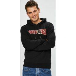 Guess Jeans - Bluza Jimmy. Czarne bejsbolówki męskie Guess Jeans, l, z aplikacjami, z bawełny, z kapturem. Za 369,90 zł.