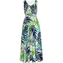 Długa sukienka z nadrukiem bonprix kobaltowo-morski z nadrukiem. Białe długie sukienki marki bonprix, na lato, z nadrukiem. Za 79,99 zł.