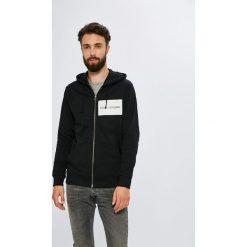 Calvin Klein Jeans - Bluza. Szare bluzy męskie rozpinane marki Calvin Klein Jeans, l, z nadrukiem, z bawełny, z kapturem. W wyprzedaży za 399,90 zł.