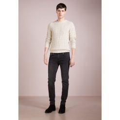Drumohr GIRO BISCOTTO GEO Sweter beige. Białe swetry klasyczne męskie marki Bambi, l, z nadrukiem, z okrągłym kołnierzem. Za 999,00 zł.