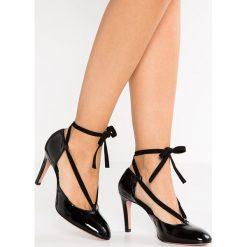 Buty ślubne damskie: Oxitaly ROSA  Czółenka sznurowane nero