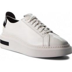 Sneakersy CALVIN KLEIN - Tesir E7508 Platinum White/Black. Białe sneakersy damskie marki Calvin Klein, ze skóry ekologicznej. Za 669,00 zł.