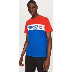 T-shirty męskie: T-shirt z nadrukiem pepsi – Granatowy