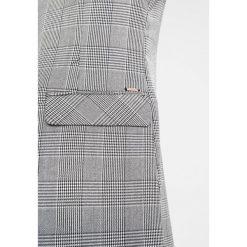 Płaszcze damskie pastelowe: b.young DANTI CHECKED Krótki płaszcz black combi