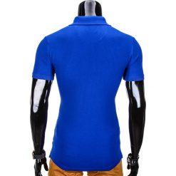 KOSZULKA MĘSKA POLO BEZ NADRUKU S837 - NIEBIESKA. Zielone koszulki polo marki Ombre Clothing, na zimę, m, z bawełny, z kapturem. Za 39,00 zł.