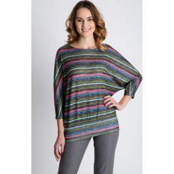 Swetry klasyczne damskie: Dzianinowy sweter typu nietoperz BIALCON