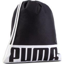 Plecak PUMA - Deck Gym Sack 074961 01 Puma Black. Czarne plecaki męskie Puma, z materiału. Za 59,00 zł.